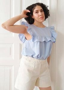 Shorts EVA aus Bio-Baumwolle Ecru - Daniela Salazar