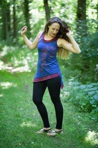 Damen Sommerkleid aus Bio-Baumwolle Vinum - NEPALAYA
