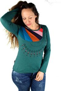 Fairtrade Damen Langarmshirt aus Bio-Baumwolle Elea - NEPALAYA