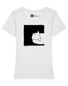Frauen T-Shirt Fox in a box aus Biobaumwolle Fair Wear - ilovemixtapes