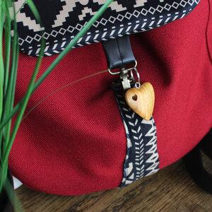 Schlüsselanhänger aus Holz Herz im Herz - Mitienda Shop