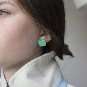 Minimalistische Ohrclips aus Glas | PUREFORM - ALEXASCHA