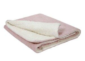 Babydecke weiß/rosa (KbA) - Efie