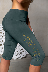 Yoga Capri-Leggings green Smaragd - Spirit of OM