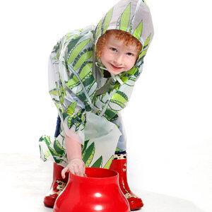 REGENCAPE / REGENJACKE AUS BIO-KUNSTSTOFF mit Motiv für Kinder - Equilicua