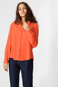 Bluse aus ECOVERO Viskose - Asune - Orange - SKFK