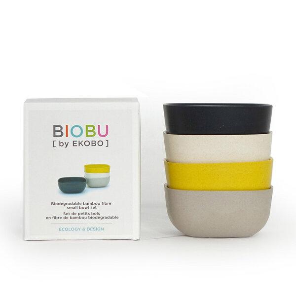 ekobo biobu gusto schalenset 4 schalen aus bambusfaser im set avocadostore. Black Bedroom Furniture Sets. Home Design Ideas