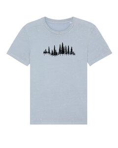 "Unisex Vintage T-Shirt aus Bio-Baumwolle ""Trees"" - Human Family"