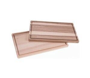 Holz Schneidebrett aus Kern-Esche-Holz geölt mit Saftrille - Größe: 40 x 25 x 2 cm - ReineNatur