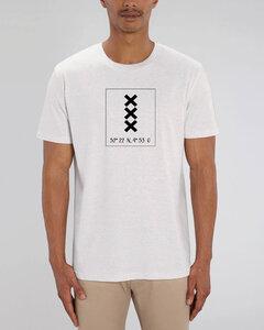 """Bio Herren City T-Shirt """"Amsterdam - Coordinates"""" - Human Family"""