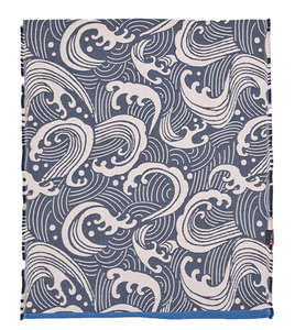 Strandteppich Welle 75 x 200 cm aus Recycling-Baumwolle - David Fussenegger