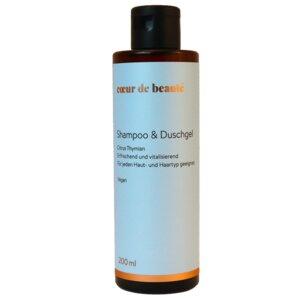 Shampoo & Duschgel Zitrus Thymian 200ml - Coeur de Beauté