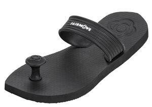 FAIR MOVE Sandals - Zehentrenner aus fair gehandeltem Naturkautschuk - Badelatschen nachhaltig - Schwarz/Petrol - Fair Move