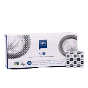 Fair Squared Kondome XL 60 mm - 100er Box aus Naturkautschuklatex - Fair Squared