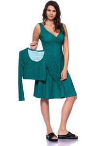 ELSETTA Vario zweiteiliges Langarm Kleid aus Bambusfasern - Milchshake