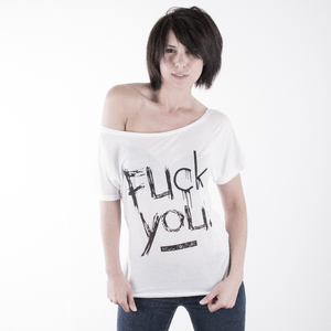 Fuck You - Batwing Shirt  - Hell Couture - Vegan - Hell Couture