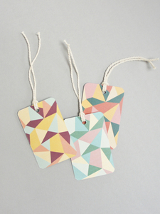 "Öko Geschenkanhänger-Set ""Dreiecke"" - MOZAÏQ eco design"