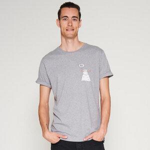T-Shirt mit Krempelärmeln CLIMATE CHANGE hellgrau - VUNDERLAND