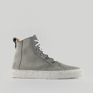 argan high / graues nubuk  / weiße sohle - ekn footwear