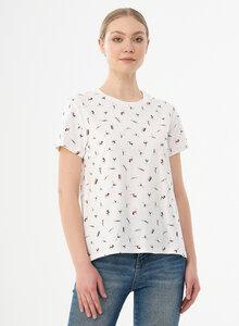 Damen T-Shirt aus Bio-Baumwolle mit Allover-Print - ORGANICATION