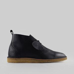 Max Herre / Schwarzes Leder / Crepesohle - ekn footwear