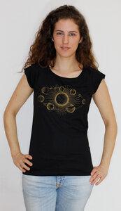 Bio-Bambus-Viskose Shirt Sonnensystem - Peaces.bio - EarthPositive® - handbedruckt