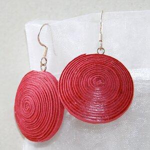 "Ohrringe ""Ambikha"" aus handgeschöpftem Recycling Baumwollpapier - Sundara"