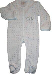 DimOrganic Schlafanzug mit Fuß Punkte - DimOrganic