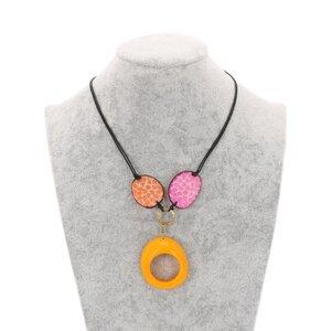 Verstellbare Tagua-Halskette - Malva - MoreThanHip-Joyas