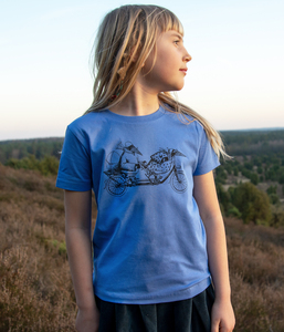 Kinder T-shirt Tandem in bright blue - Cmig
