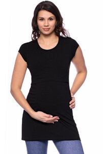 107 BASIC kurzarm Umstands- und Stillshirt extra lang aus Bio Baumwolle - Milchshake