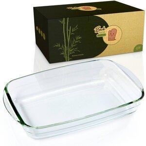 Ofenform aus Borosit-Glas | Bräter erhältlich in 3 Größen  - Bambuswald