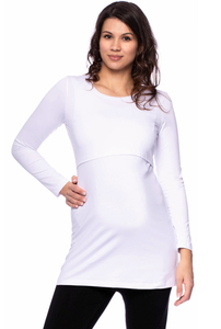 107 BASIC Langarm Umstands- und Stillshirt aus Bio Baumwolle - Milchshake