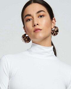 Runde Ohrringe CLARE EARRINGS aus Acetat - JAN N JUNE