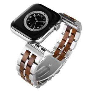 LAiMER Smartwatch Uhrband Leadholz Fancy - kompatibel mit Apple Watch - Laimer