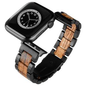 LAiMER Smartwatch Uhrband Zebranoholz Basic - kompatibel mit Apple Watch - Laimer