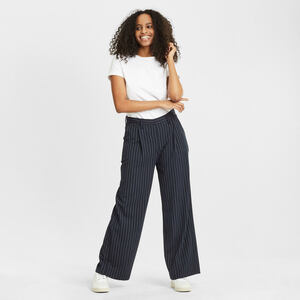 Stoffhose - POSEY pin strip wide pants - mit recyceltem Polyester  - KnowledgeCotton Apparel
