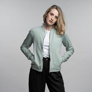 Zip Jacke Damen - Bio-Baumwolle mint/blau - Vresh Clothing