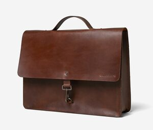 3in1 Business- & Laptoptasche. THE SLIM AFTER WORKER. Braun | Eco | Fair | Handmade. - RARE.COMMON