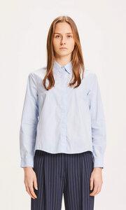 "Damen Bluse in A-Linie ""JACINTA"" aus Biobaumwolle, Farbe Skyway - KnowledgeCotton Apparel"