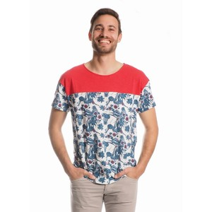 Thomas T-Shirt Men Organic Cotton Flower+Hibiscus - Minimal - Re-Bello