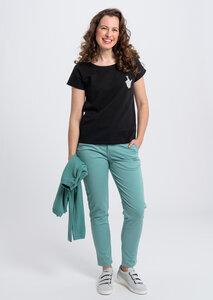 Print Damen T-Shirt #CROSSEDFINGERSaus Baumwolle (Bio) | Casual T-Shirt #CROSSEDFINGERS - recolution