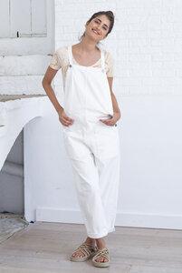 Latzhose aus Bio Baumwolle - Jumpsuit Kandi Natural Color - Weiß - Suite 13
