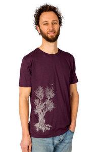 """Bambus Shirt Fairwear für Herren """"Olive Tree"""" in Aubergine - Life-Tree"""