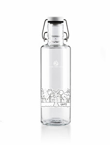 "soulbottle 0,6l • Trinkflasche aus Glas • ""Unity"" - soulbottles"