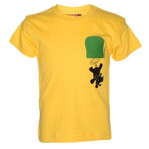 """Kinder T-Shirt """"Falling Rhino"""" Fairtrade aus Baumwolle mit Aplique Brusttasche - Africulture"""