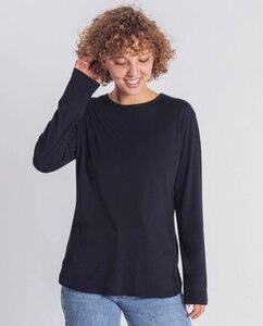 Damen Langarmshirt aus Bio-Baumwolle - Dona - schwarz  - Degree Clothing