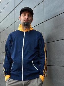 Interlockjacke blau-gelb - T-Shirtladen-Marktstrasse GmbH