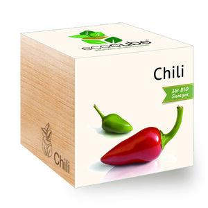 "Chili im Holzwürfel mit Bio-Samen - ""Ecocube"" - EcoCube"