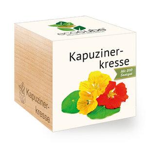 "Kapuzinerkresse im Holzwürfel mit Bio-Samen - ""Ecocube"" - EcoCube"